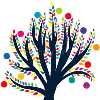 abstracte-boom-met-gekleurde-bladeren-en-vruchten-44313744